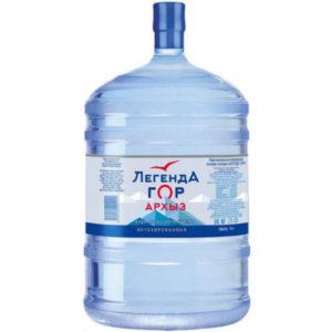 """Вода """"Легенда гор Архыз"""", 19 литров"""