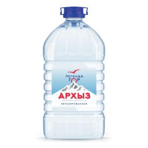 """Вода """"Легенда гор Архыз"""", 5л. Цена за 1уп(2шт×115руб)"""