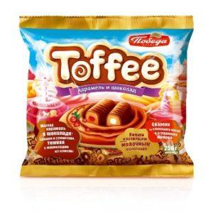 Конфеты Мягкая карамель Toffee в шоколаде 250гр