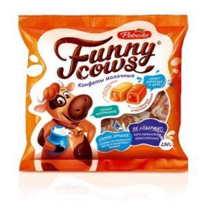 Конфеты молочные «Funny cows» 250гр