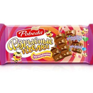 Шоколад Молочный с взрывной карамелью «Взрывные пчелки»