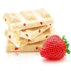 Шоколад белый с кусочками клубники 100гр