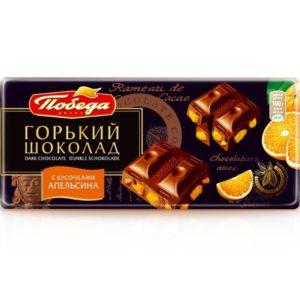 Шоколад горький 72% с кусочками Апельсина 100гр