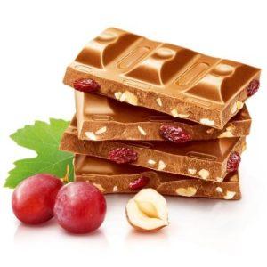 Шоколад молочный с орехом и изюмом 90гр