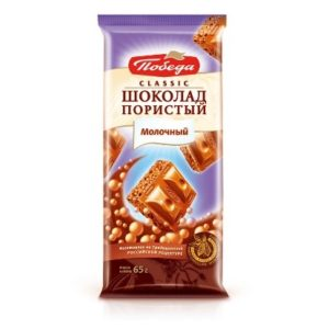 Шоколад пористый молочный Classic 65гр