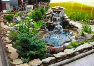 Водопад возле дома:Своими руками
